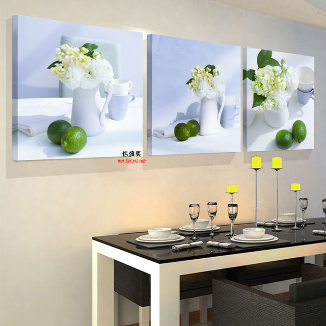 3 Piece Modern Fruit Kitchen Pictures Abstract Oil Canvas Home Decoration  Wall Art Modular Picture Painting