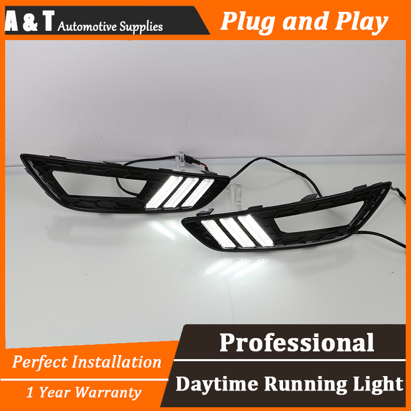 A&T car styling For Ford Focus LED DRL For Ford Focus led fog lamps daytime running light High brightness guide LED DRL for lexus rx gyl1 ggl15 agl10 450h awd 350 awd 2008 2013 car styling led fog lights high brightness fog lamps 1set