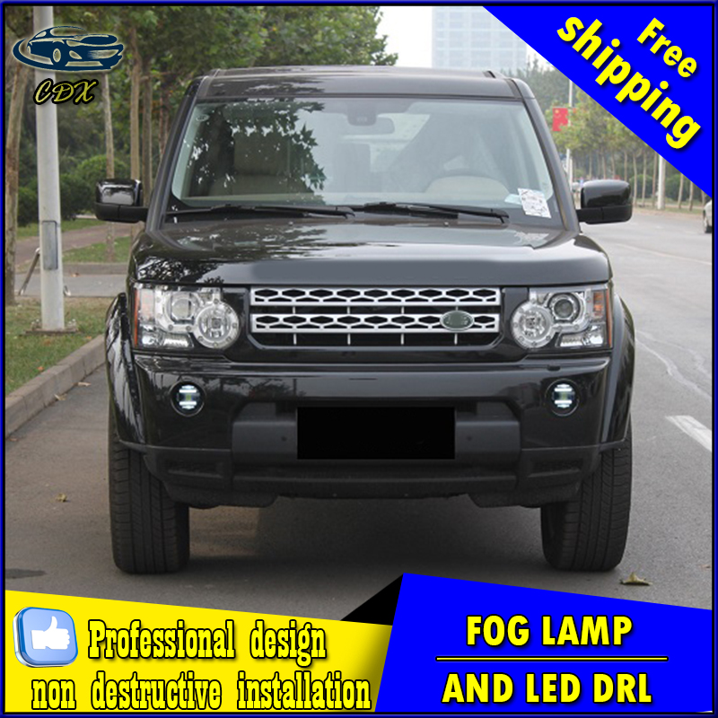 Car-styling LED fog light for Land Rover Discovery LED Fog lamp with lens and LED daytime running ligh for car accessories