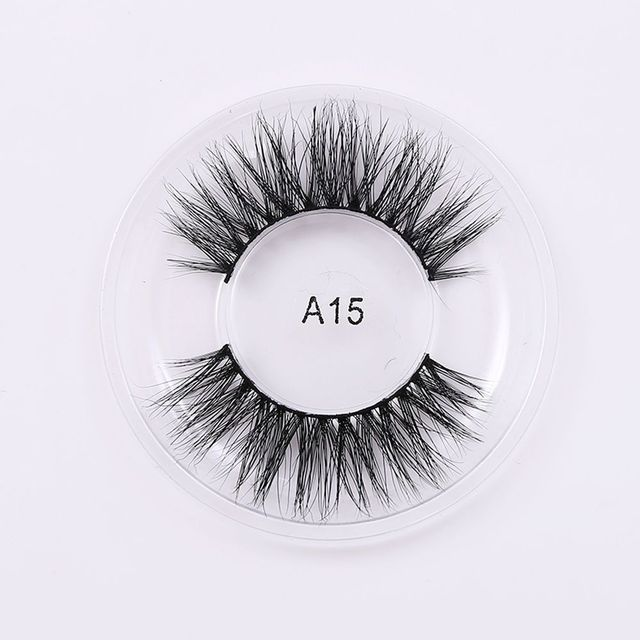 1Pair NEW Package Handmade Soft Natural Luxury Real Mink False Eyelashes Long Cross Faux Lashes Extension Makeup Tools Summer False Eyelashes