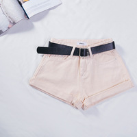 Shorts Jeans For Women Summer With High Waist 2018 The New Pure color Pure Cotton Korean version 8 colors Vintage Straight short