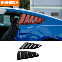 SHINEKA ABS Side Louver Cover Black Window Blinds Shades for Ford Mustang 2015+ Car Styling Accessories