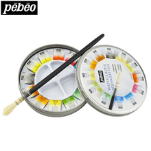 12/24colors Solid Water Color Paint Set Watercolor Pigment With Paint Brush Tin Box Watercolor Painting Set Art Supplies