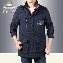 AFS JEEP Plus Größe M-3XL Frühjahr Herbst Einzigen schicht Wasserdicht und winddicht Jacke mantel quick-dry Mann mit kapuze jacken outwear