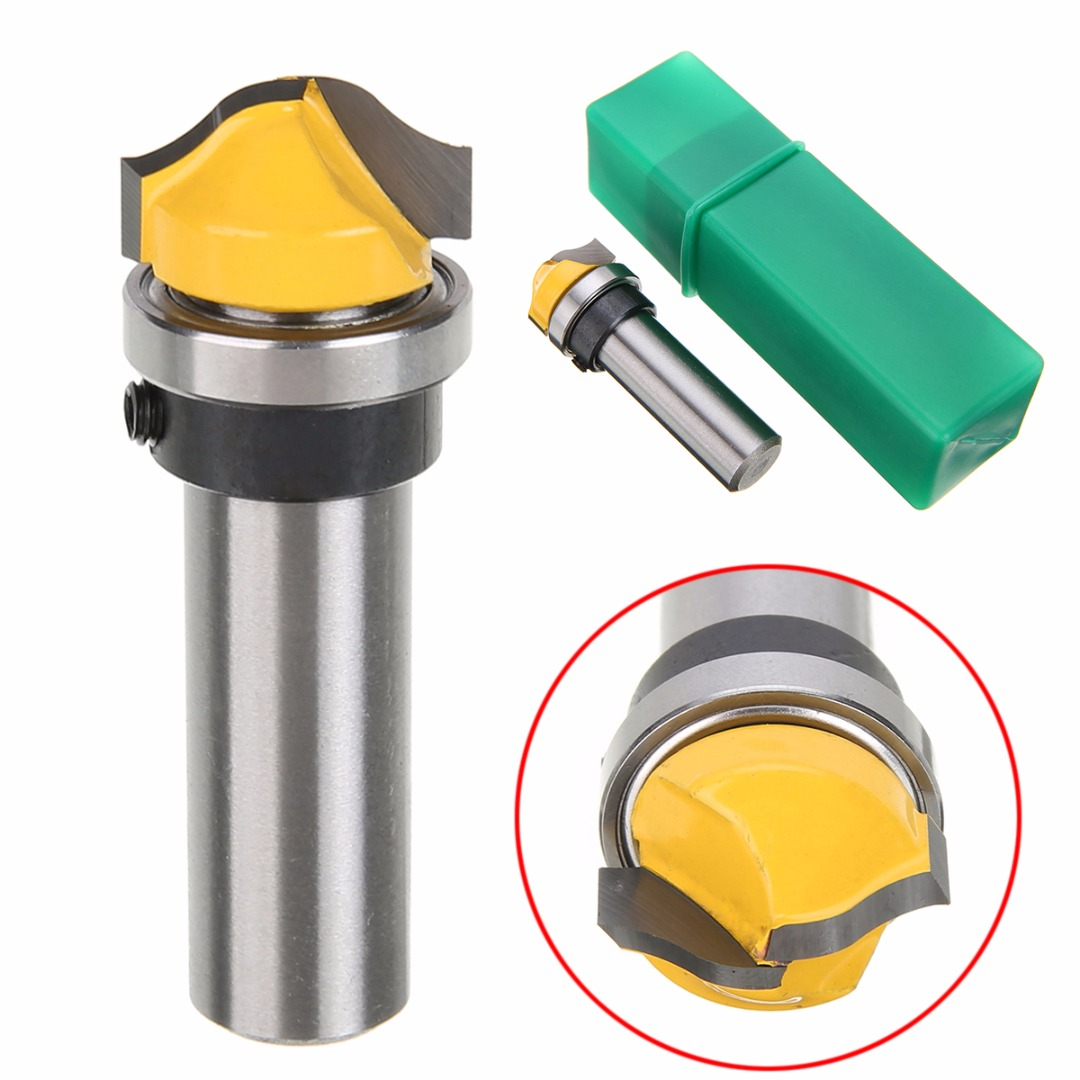 1/2'' Shank Flush Trim Template Router Bit 2 Flutes Wood Cutter For Mayitr Woodworking Tool machine wood cutter bits 2 double flute straight cutting mdf woodworking router bit flush trim bit mill cutter slot carving tool