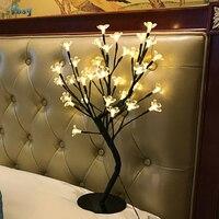 Romantic Creative Cherry Tree Night Lights Confess Wedding Room Decoration Birthday Present Children Bedside Lamp Kids Toys Led
