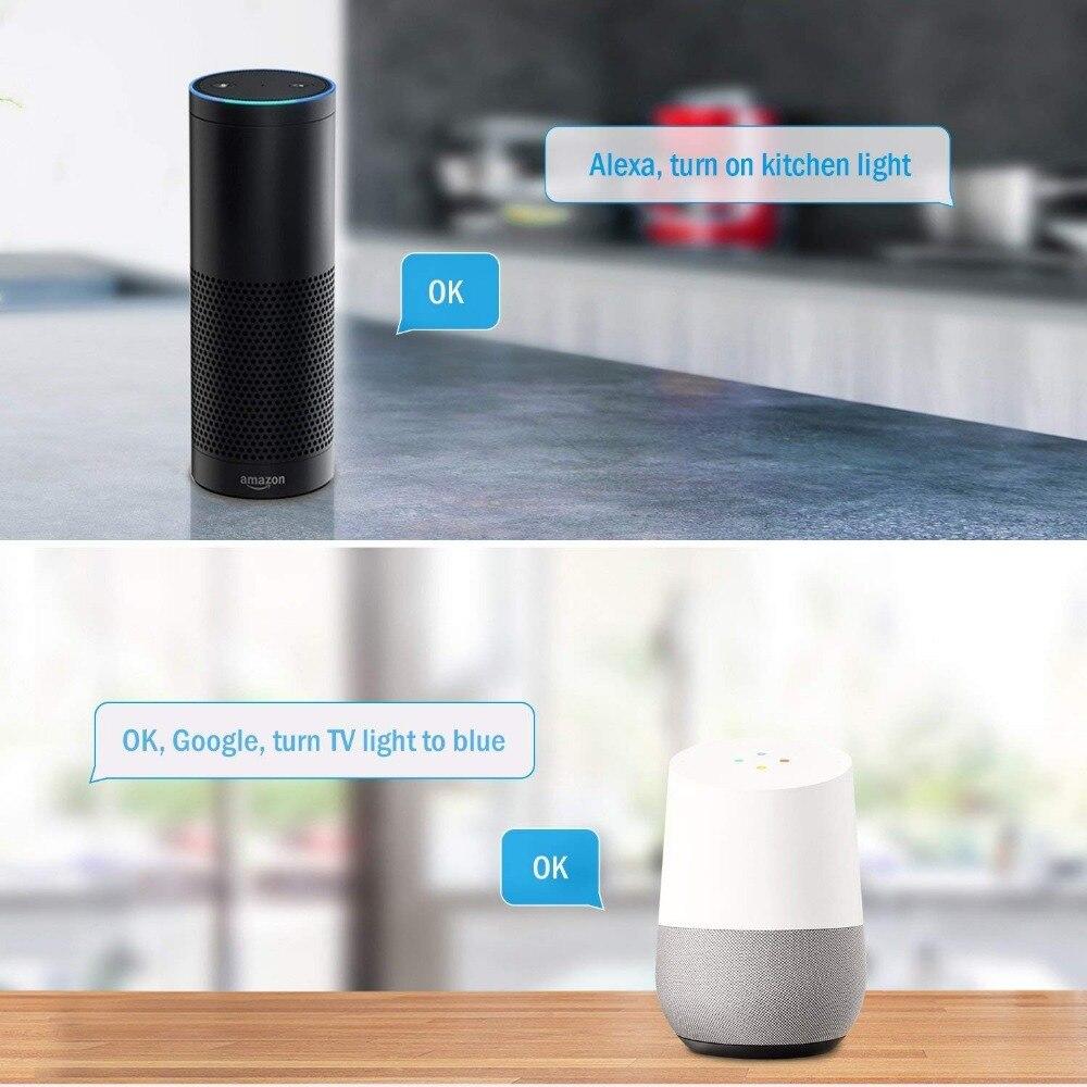 HTB1CfeBKh1YBuNjy1zcq6zNcXXaO 5M WiFi Bluetooth LED Strip DC 12V SMD 5050 Non waterproof Flexible RGB Tape Ribbon Light Works With Amazon Alexa Google Assist