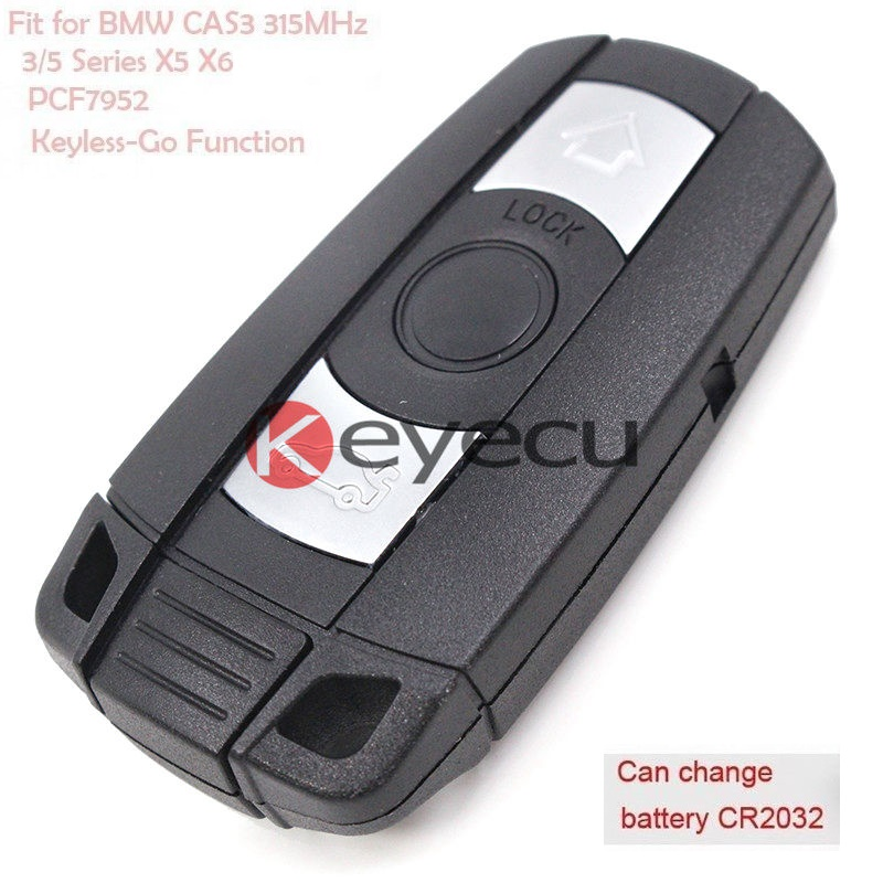 Full Intelligent Remote Key 315MHz for BMW CAS3 3/5 Series X5 PCF7952 With Keyless-Go Function