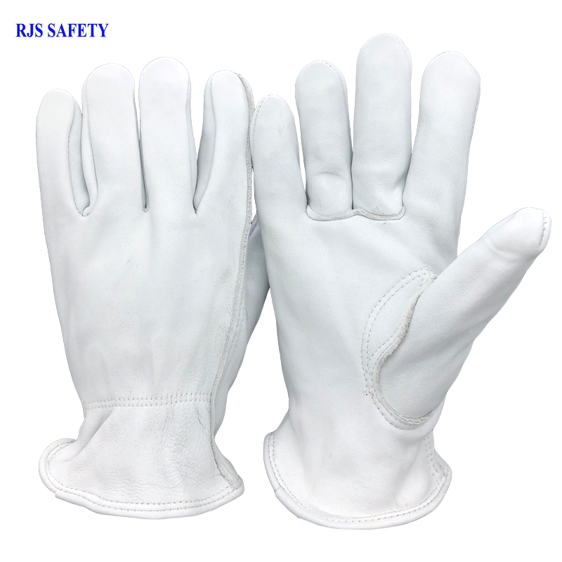 RJS Safety Work Gloves Sheepskin Leather Working Welding Gloves Safety Protective Garden Sports MOTO Wear-resisting Gloves 4023 strong 0 35mmpb medical x ray protective gloves ray workplace use gloves lead rubber gloves