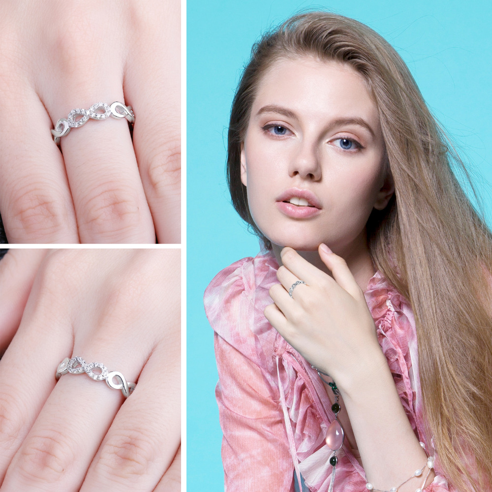 SmyckenPalace Infinity Forever Love Anniversary Promise Ring Pure 925 - Fina smycken - Foto 3