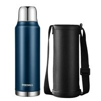 1000ML/34oz Stainless Steel Vacuum Flask With Cover Travel Coffee Mug&Sport Vacuum Thermoses,Insulation Water Bottle For Hiking