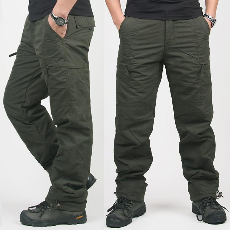 Di Tattico Dei Qualità Safari green Uomini Formato Sciolti Più 2018  Pantaloni Stile Caldo Gray Inverno Cargo Degli In Militare Pile Alta  AAaSz6wq 318d26d8e35
