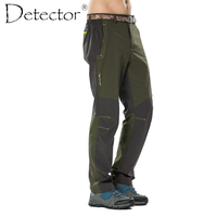 Detector Men's Hiking Pants Outdoor Camping Polyest Climbing Soft Shell Pants Windproof High Quality Sport Trousers