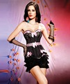 Princess Black and Pink Dotted Bows Overbust Corset