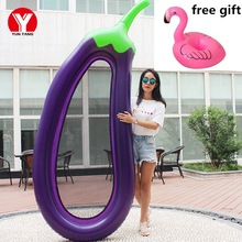 Giant Inflatable Swimming Mattress for Adults Pool Eggplant Float Water Toys Air Floating