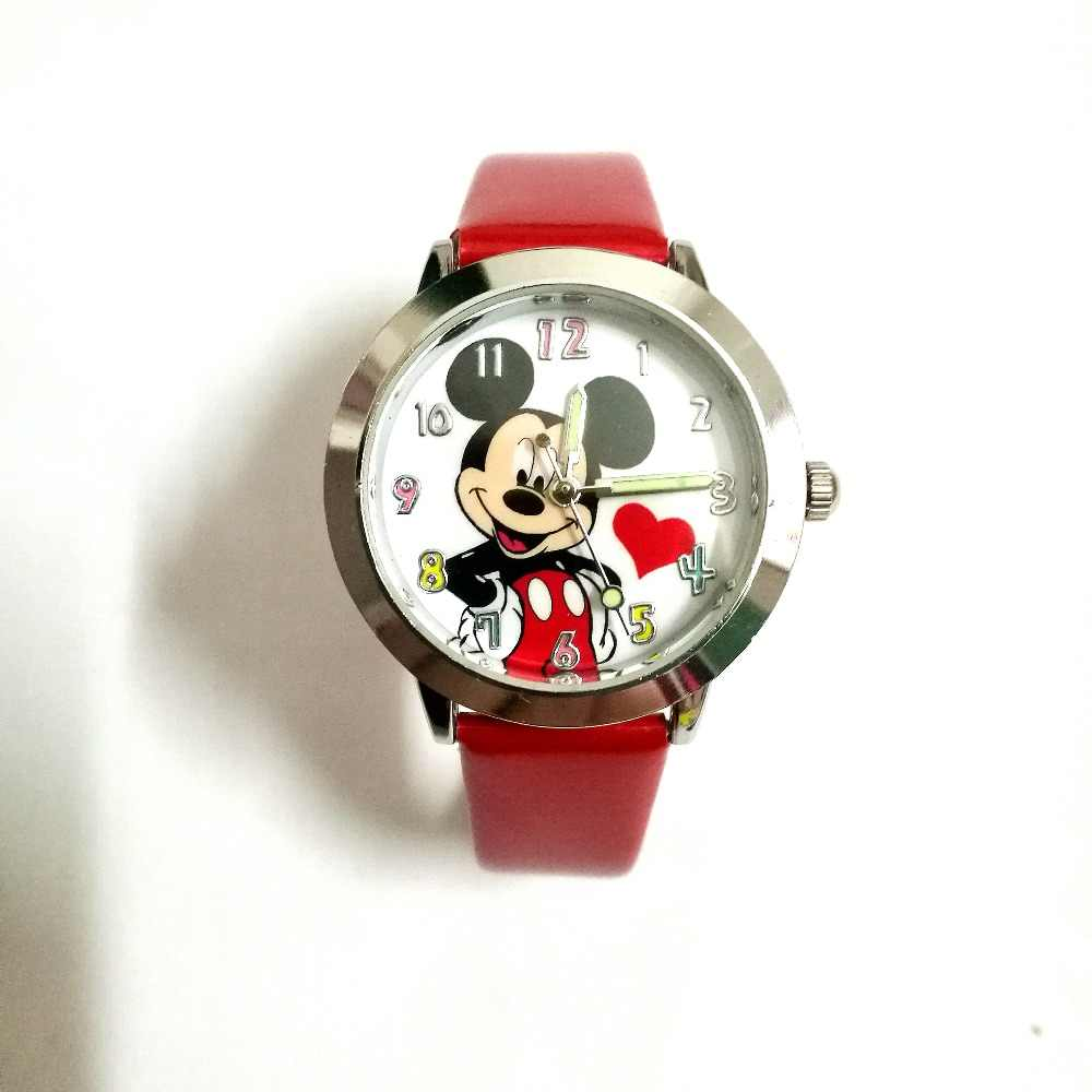 Quartz causal kids watch Cartoon 3D children girls Minnie Mouse style boys Colors dial students gift wrist watches