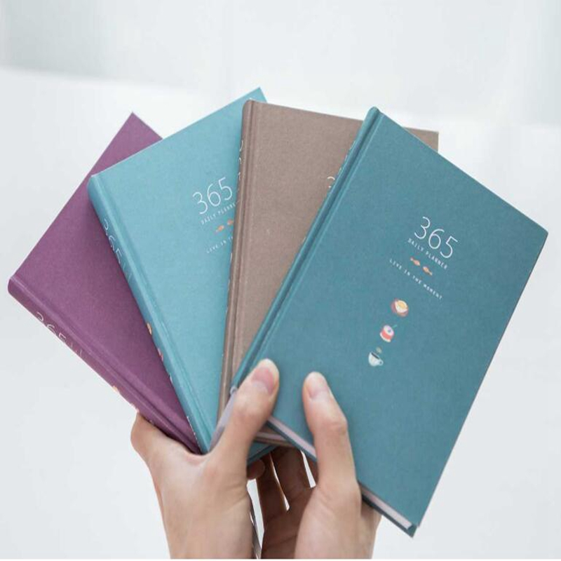 2018 Kawaii 365 Days Personal Diary Planner Hardcover Notebook Agenda Plan Office Weekly Schedule Cute korean Gift stationery A5 retro color 365 days notebook gift diary note book agenda planner material escolar caderno office stationery supplies gt108