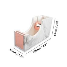 White Marble Adhesive Tape Dispenser Holder