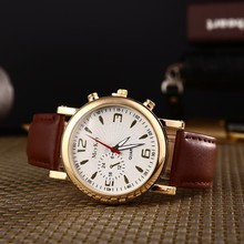 Men Watches 2016 Military Luxury Brand Business Quartz Watch men Leather strap watch with calendar male reloj hombre Clock