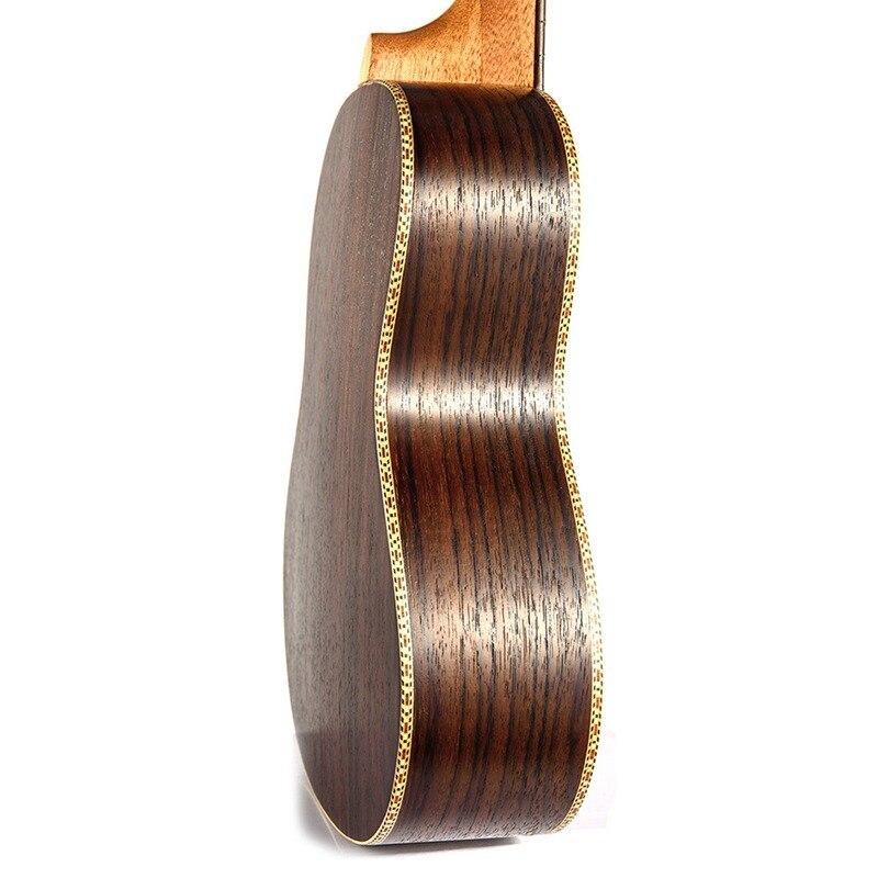 Soprano Concert ukulélé 23 pouces palissandre uku Ukelele avec 4 cordes mini Hawaii guitare Instruments de musique - 4