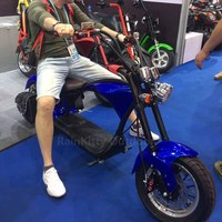 Adult removable battery electric motorcycle electric citycoco scooter 1500W 2000W 60KM max speed