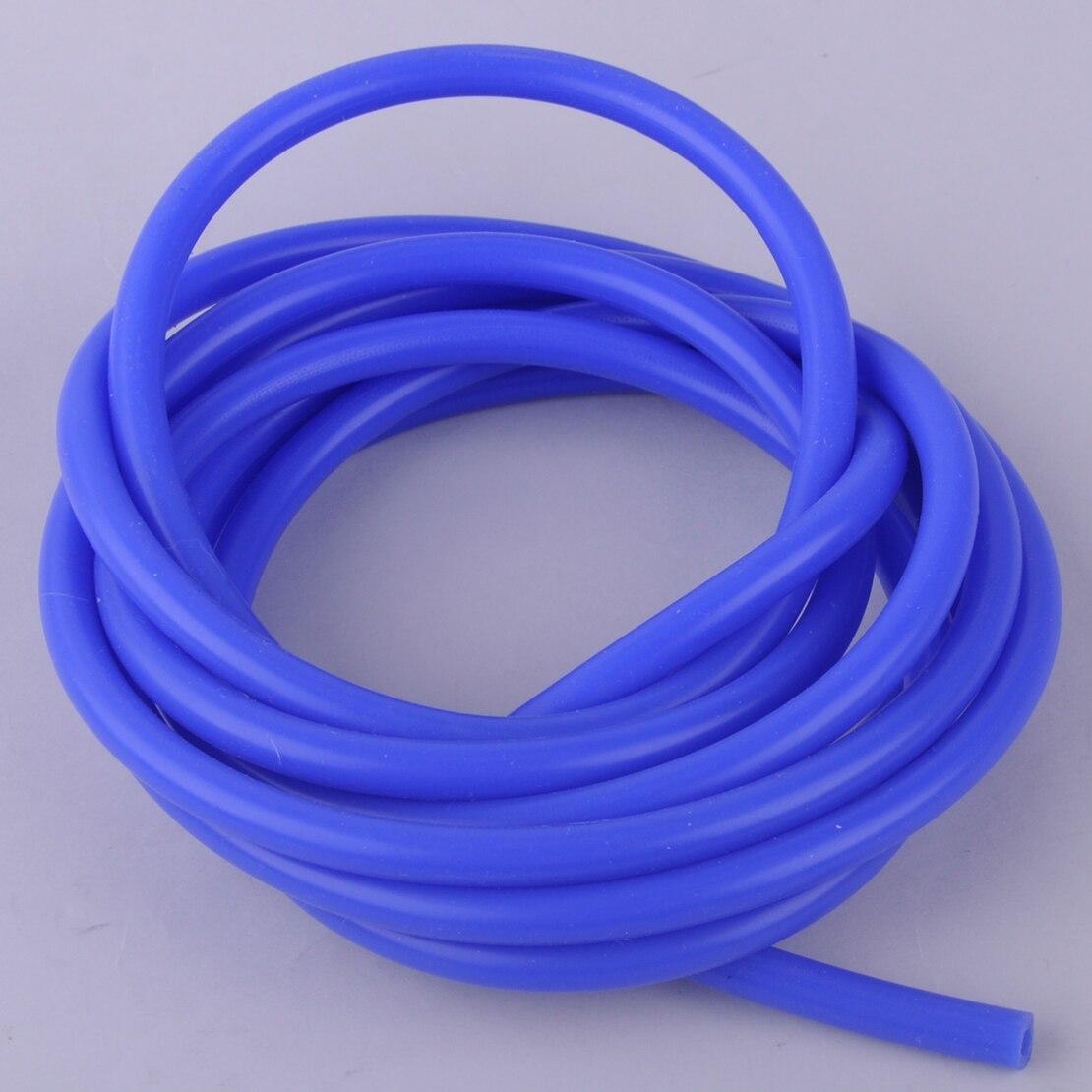 Beler 3 Meters 4mm Blue High Temp Air Intake Engine Silicone Vacuum Tube Hose