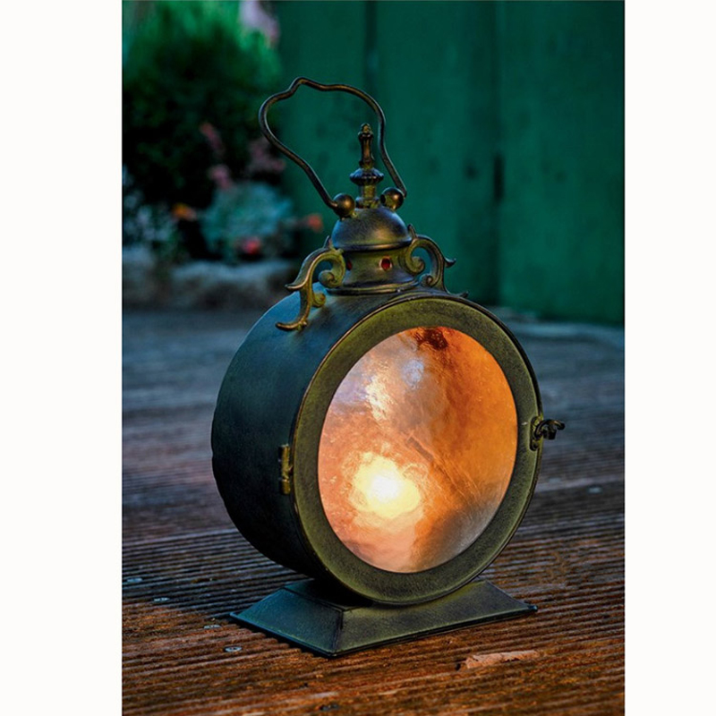French country retro do the old iron lantern table light shop window decoration lighting night light ZA117653 цена