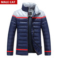 2016/ Men's winter jackets New 2016 Brand Fashion Long Down Jacket Men Solid Cotton-padded jackets warm Coat For Male Hooded Coa