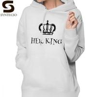 His Queen Her King Hoodie Her King Hoodies Streetwear Trendy Hoodies Women Grey Long sleeve Graphic Over Size Pullover Hoodie