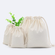 2PCS Cotton Fabric Dust Cloth Drawstring Storage Bag Clothes Socks/Underwear Shoes Receive Bag Home Sundry Kids Toy Storage Bags(China)