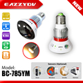 EAZZYDV BC-785YM Home Bulb Lamp HD 720P IP Wifi Network CCTV Security Camera Wireless Video Surveillance Camera Support TF Card