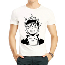 Black Clover T shirt Short Sleeve Anime Black Clover Asta Trendy T shirts