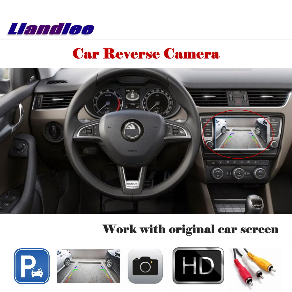 Liandlee Auto Reverse Parking Camera For Skoda Superb Sedan 2013 2016 Rear Rearview Camera Back Work