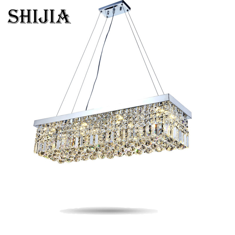 chandeliers dining room Rectangle Crystal Pendant chandelier Light Fitting chandelier Crystal dining room lights bedroom Lamp