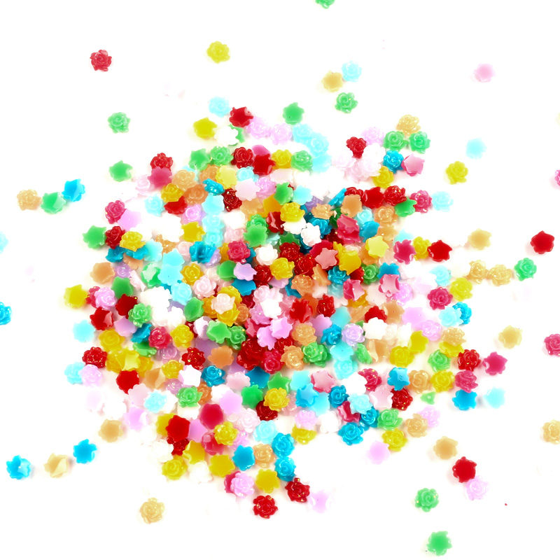 1000Pcs Resin Flowers For Nail Art Rhinestones Decorations Crafts Flatback Cabochon Embellishments For Scrapbooking Accessories