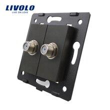 Zócalo Estándar de LA UE de Accesorios Para Productos de BRICOLAJE, La Base de Socket Doble SATV Enchufe de color Negro, VL-C7-2ST-12