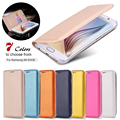 KISSCASE Business Luxury Slim Ultra Flip PU Leather Case For Samsung Galaxy S6 Edge G9250 Wallet Phone Cover For Galaxy S6 Edge