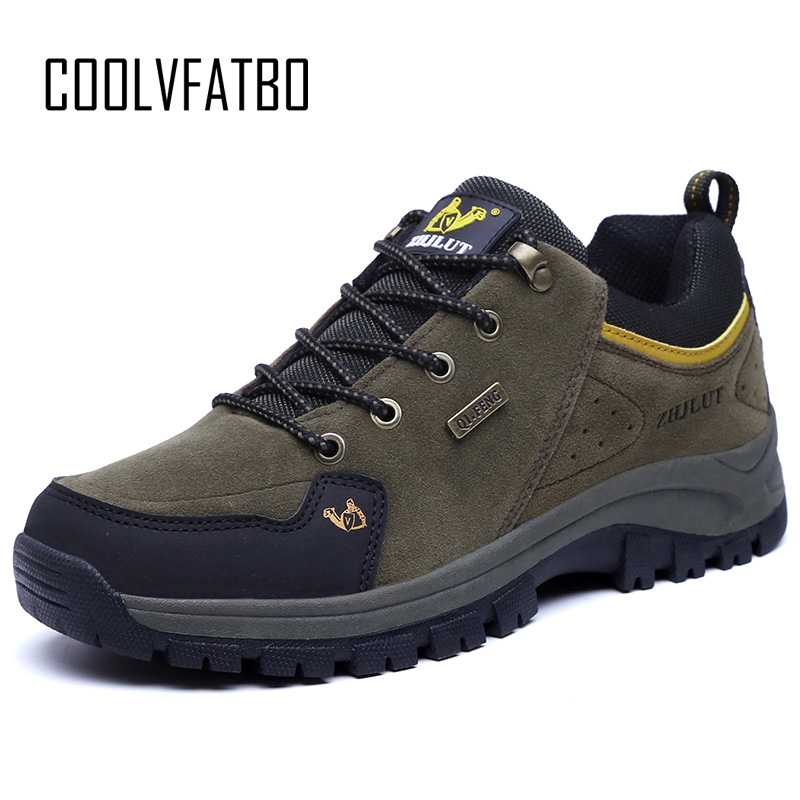 COOLVFATBO 2019 Outdoor Spring Men Leather Boots Fashion Round Toe Sneakers Mens Combat Desert Casual Shoes Big Plus Size 47 tênis masculino lançamento 2019
