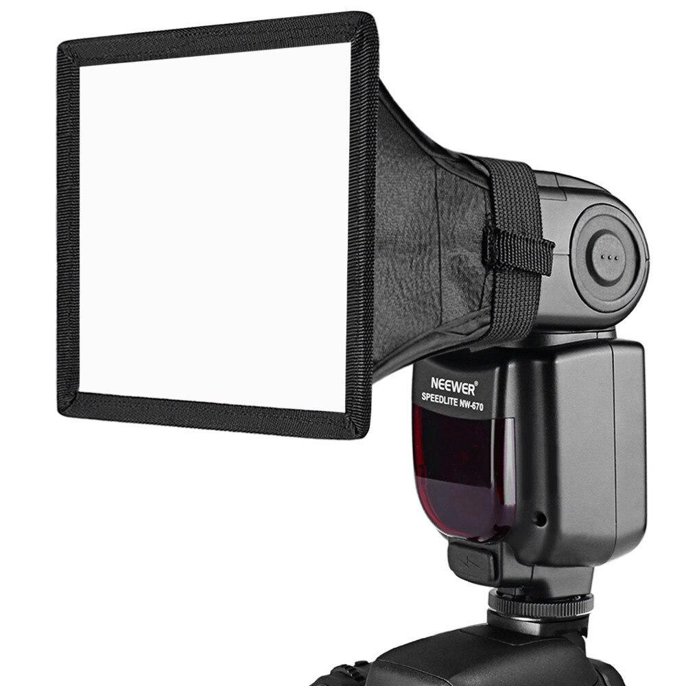 Neewer 6x5 pouces/15x13 cm Speedlite Softbox lampe de Poche Diffuseur pour Canon 580EX II 600EX-RT/YongNuo YN560 III YN560 IV/Nikon