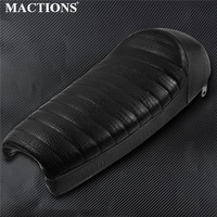 Motorcycle Black Crocodile PU Leather Vintage Hump Cafe Racer Seat For Suzuki GN125 GN250 GN400 For Honda CB CG125 For Yamaha