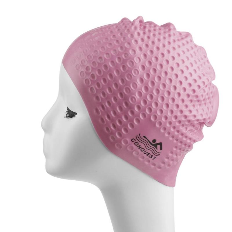 Elastic Waterproof Silicone Swim Cap Ears Protection