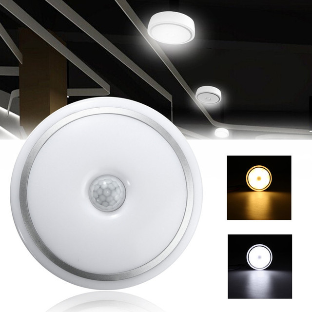 12W LED PIR Sensor Infrared Ceiling Light Flush Mounted Decor Home Lamp Human Body Motion Induction + Light Control Lights