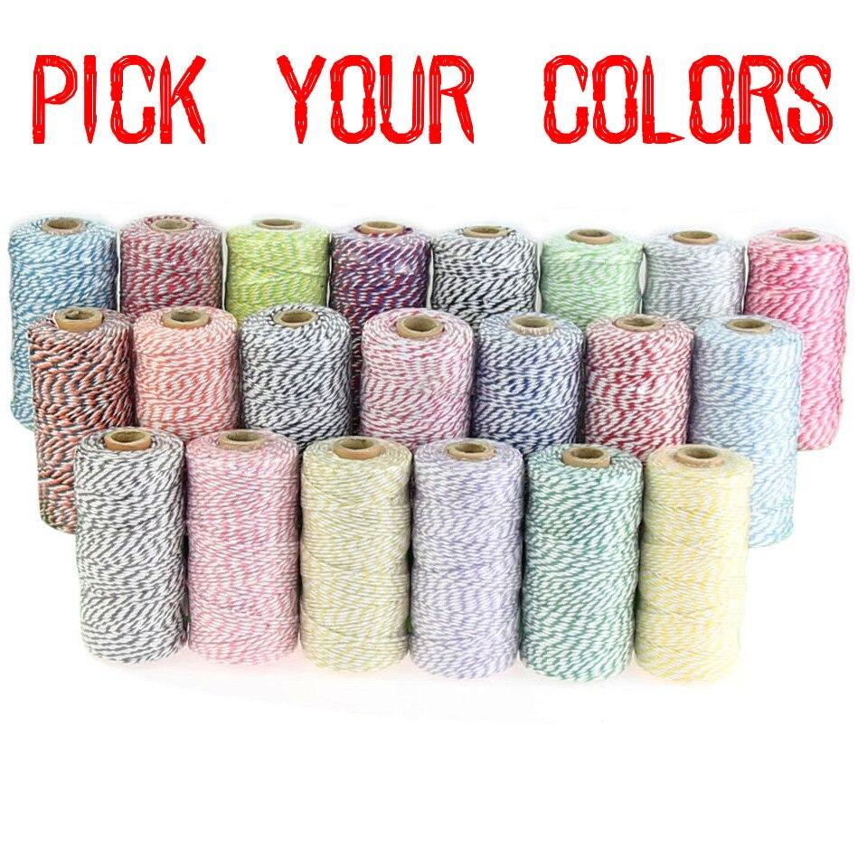 15 szpule (110 stoczni/szpula) mieszane kolory kolorowe sznurki 12ply, upominki luzem opakowania Wrap Craft Diy sznurek bawełniany, sznurek, sznury w Sznurki od Dom i ogród na  Grupa 1