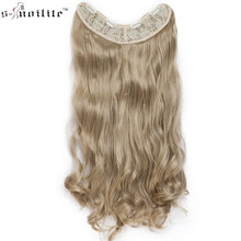 SNOILITE 24inch 4 clips in one piece wavy Hair Extention syn