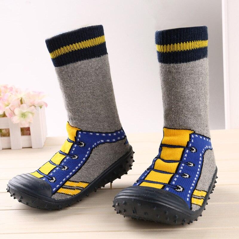 HOT Design Infants Toddler Moccasins Newborn Baby Boys Girl Socks Anti-Slip Floor Boot Attipas Kids Shoes