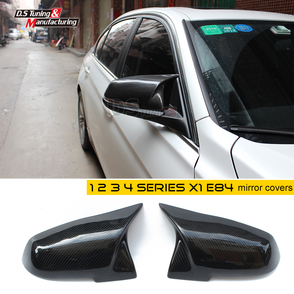 replacement carbon fiber cf mirror covers for bmw f10 f30 f26 f16 x1 x3 x4 x5 x6 e90 e60 for bmw f15 f16 carbon mirror cover x3 f25 x4 f26 x5 f15 x6 f16 dry carbon fiber rear side view mirror cover gloss black 2014 up