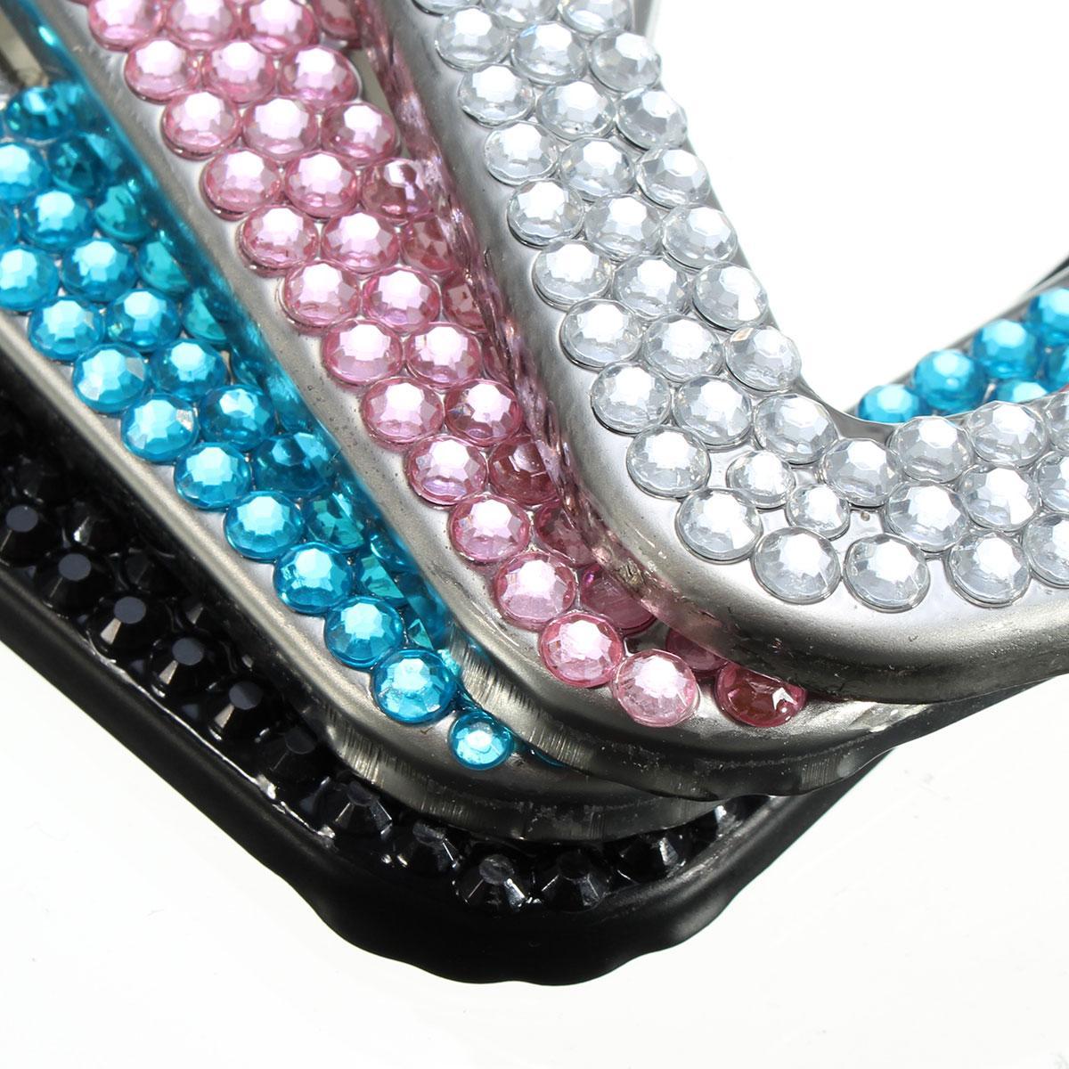 Coche nuevo estilo bling Glitter Crystal Rin piedra coche Marcos de ...