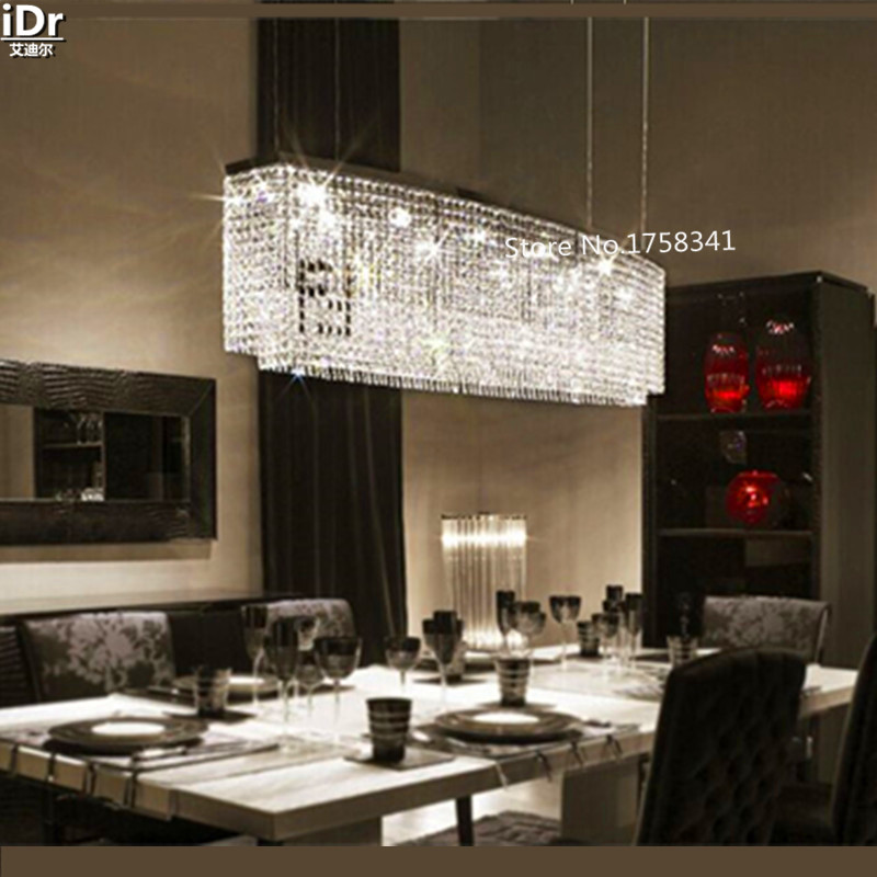 Suspension Light For Dining Room, Foyer, Stairs Fixture Crystal Light  Lustre Hanging K9 Crystal LED Chandelier Light DS 022