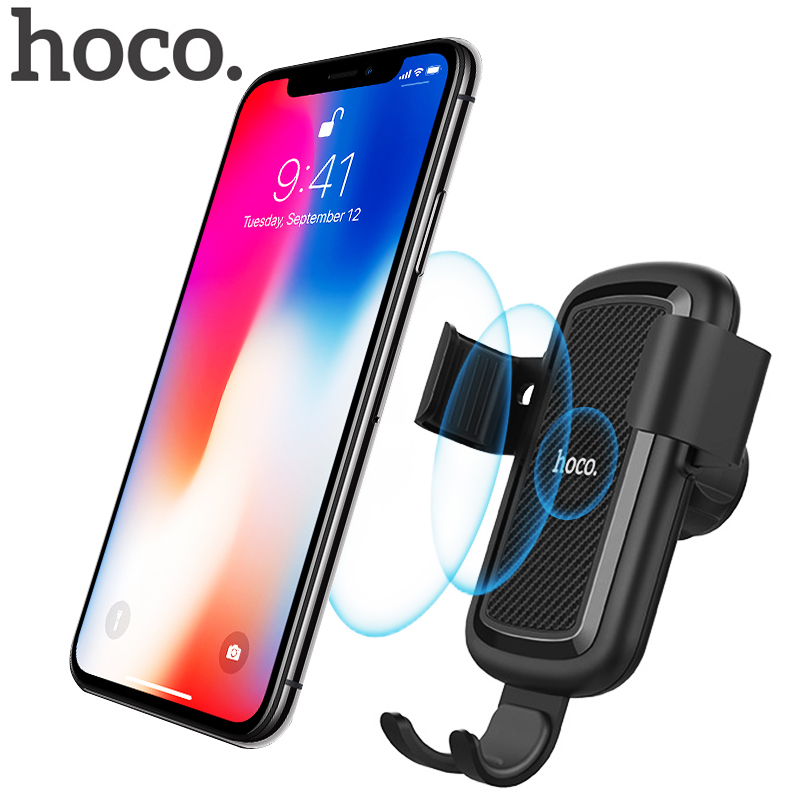 hoco car qi wireless charger for iphone xs max xr x 8 plus. Black Bedroom Furniture Sets. Home Design Ideas