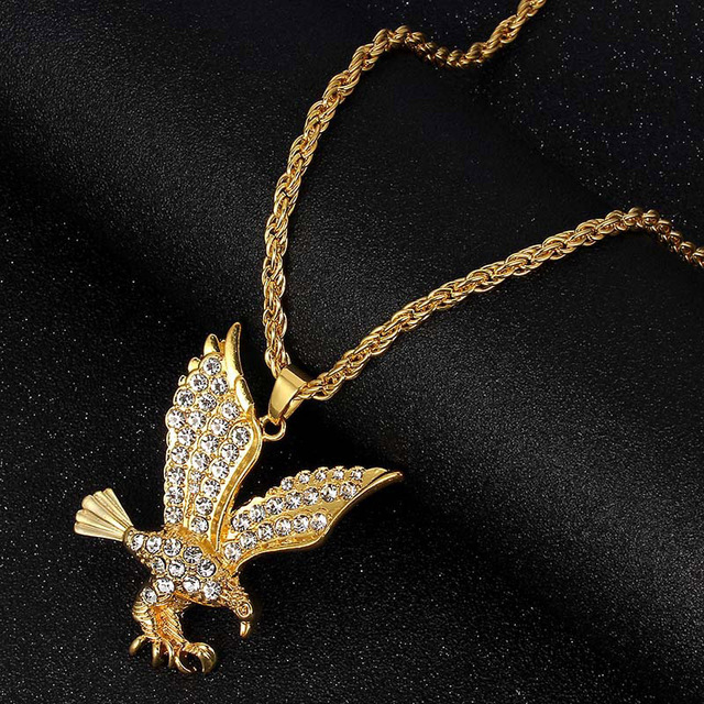 2019 Hip Hop Jewelry Fashion Gold Long Chain Necklaces Women Men Personalized Letter Eagle Prayer Gesture Map Pendant Necklace